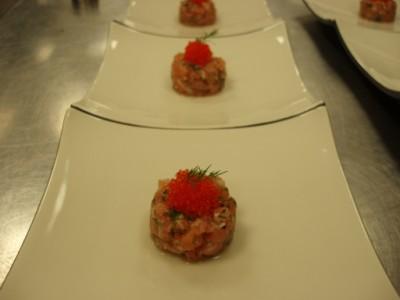 Larb Salmon with Tobiko Laocook