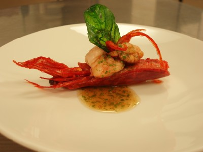 Scarlet Prawn Laocook with Tamarind Dressing