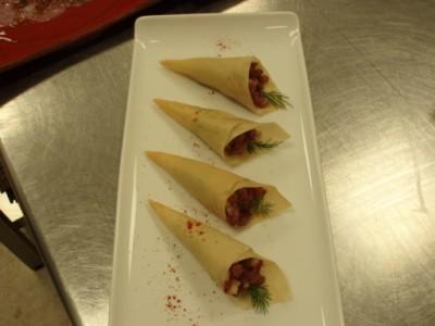 Larb Tuna Cones