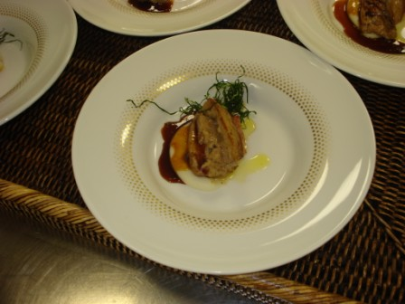Foie Gras with Chicken Teriyaki