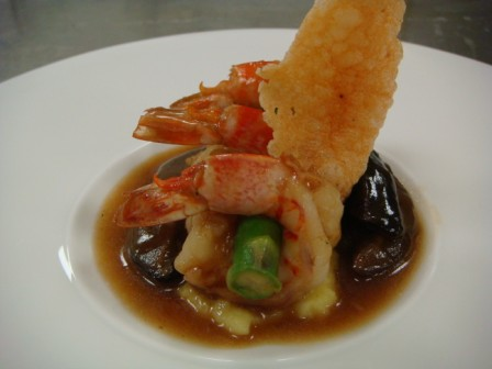 King Prawns with Mushrooms Laocook