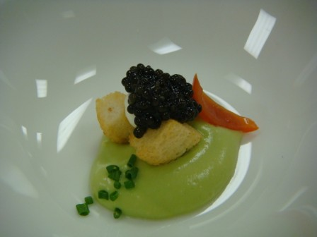 Avocado with Caviar Laocook