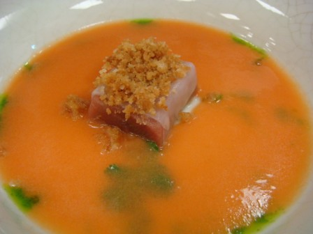 Tuna Sashimi with Gazpacho Laocook