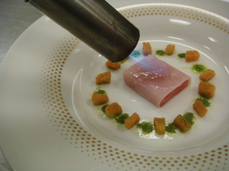 Tuna Sashimi and Gazpacho Version 2 Laocook 2