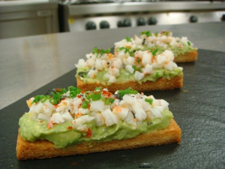 Laocook Avocado and Prawn Toasts
